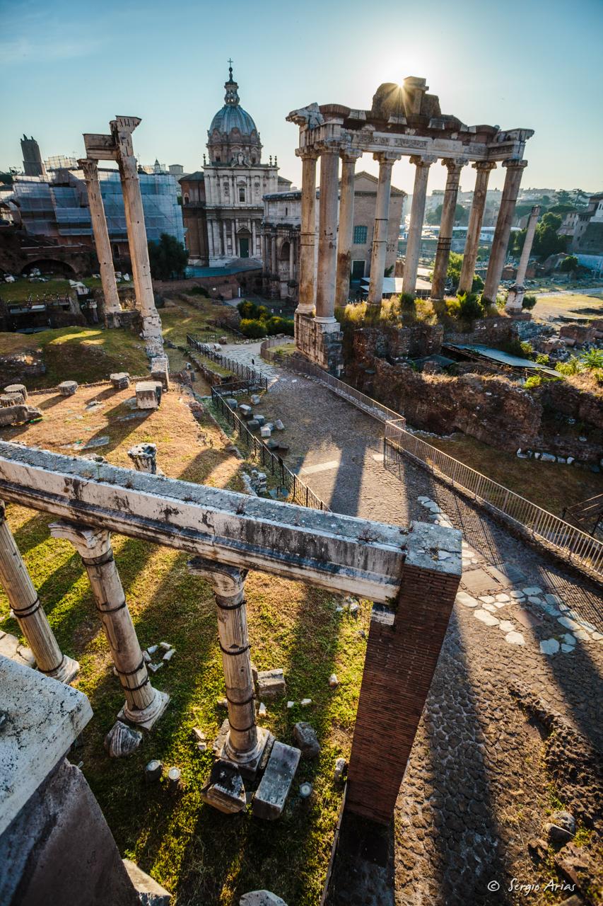 Amanecer en Roma - Foro Romano