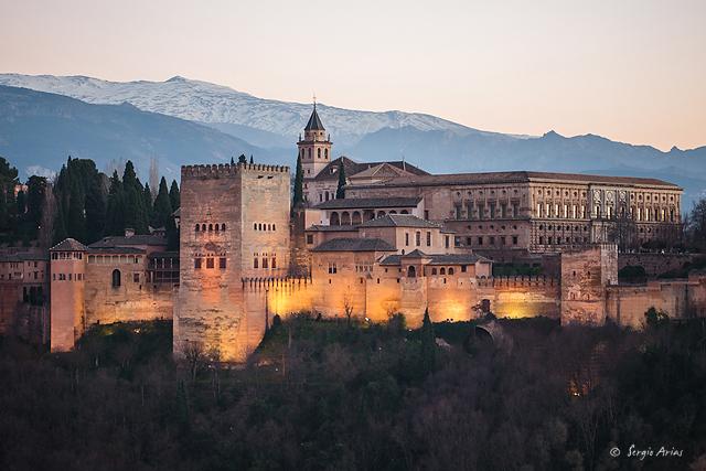 La Alhambra - Imagen sin usar el filtro polarizador