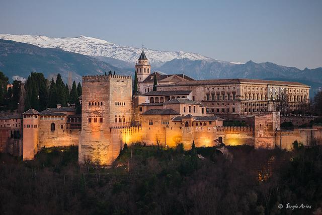 La Alhambra - Imagen usando el filtro polarizador