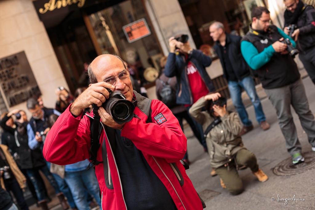 Gran afluencia de gente en los fotowalks