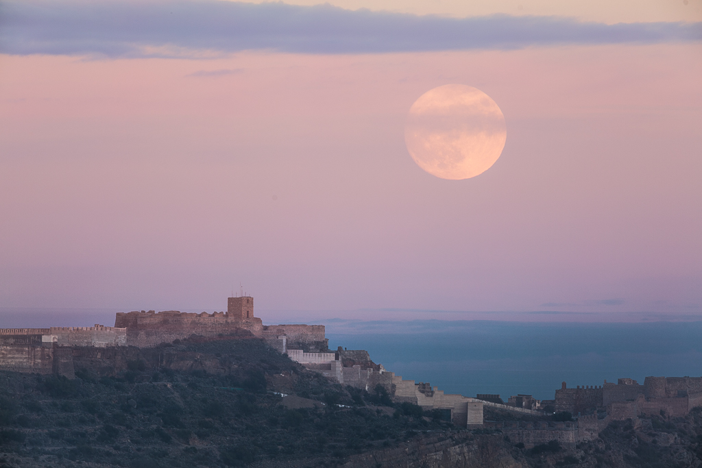 La Superluna - Castillo de Sagunto