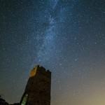 Vía Láctea en el Castillo de Pradas