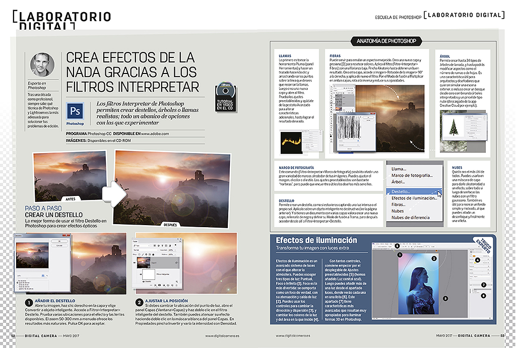 Digital Camera - Crea efectos con Photoshop
