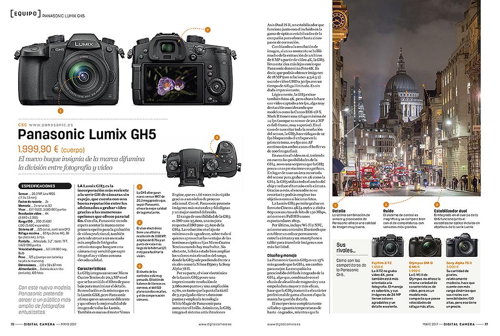 Digital Camera - Panasonic Lumix GH5