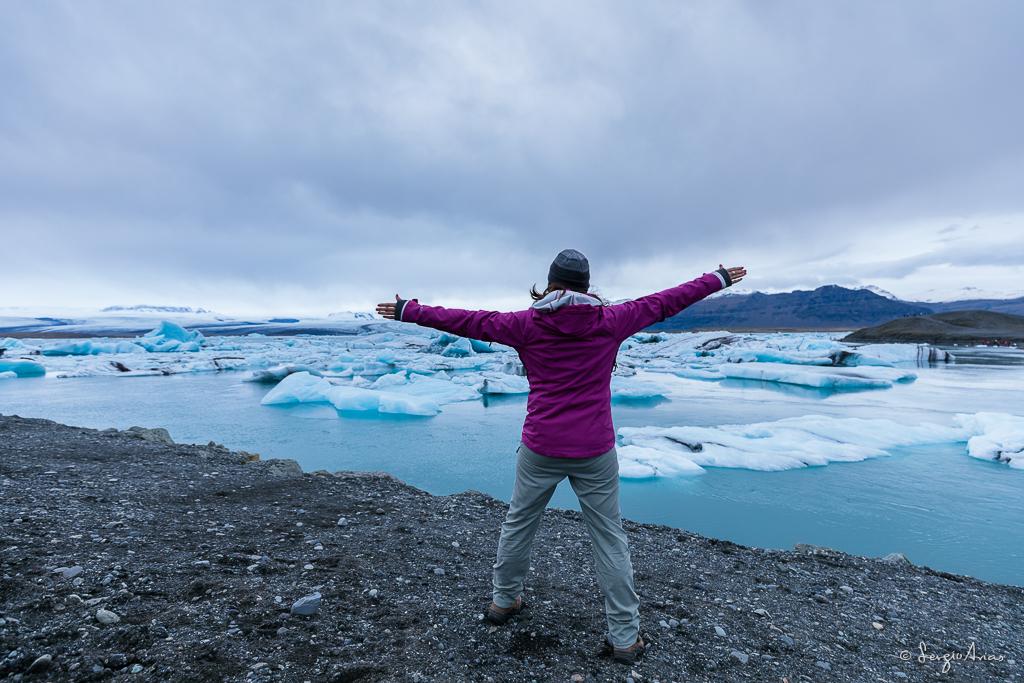 La laguna del glaciar de Jokilsarlon impresiona la primera vez que lo ves.