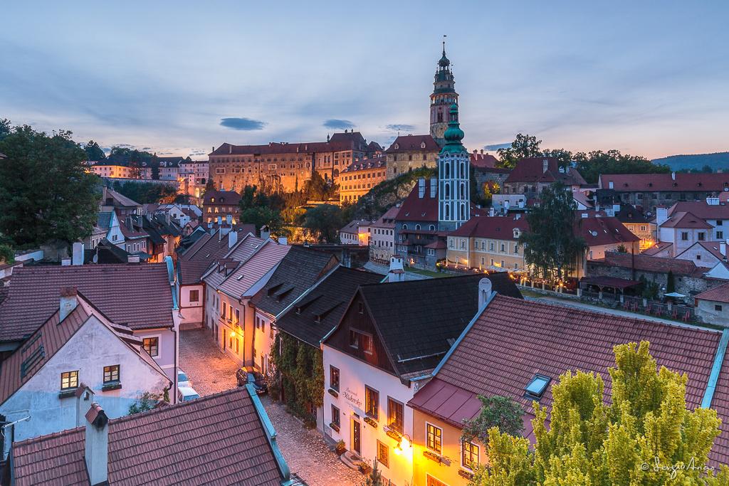 Vistas de la ciudad y del Castillo de Cesky Krumlov