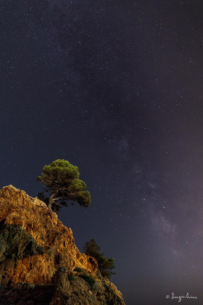 Vía Láctea en la Cala Cap Roig