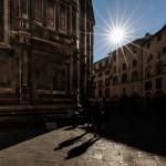 Sombras junto a la Catedral