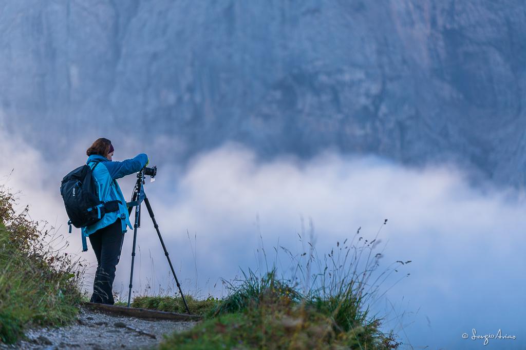 Marta se quedó arriba mientras la niebla iba inundando el paisaje