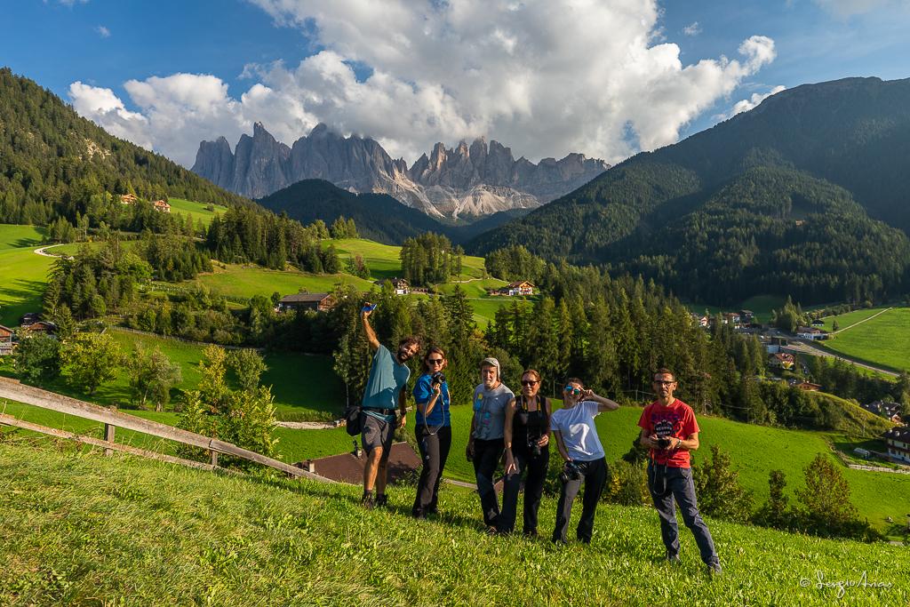 El grupo oon una de las mejores vistas del viaje