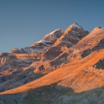 Últimos rayos sobre el Monte Perdido