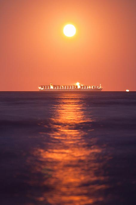 Amanecer Lunar - Playa del Saler - Sergio Arias Ramón