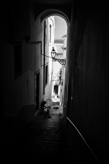 Calle a oscuras - Lisboa - Sergio Arias Ramón