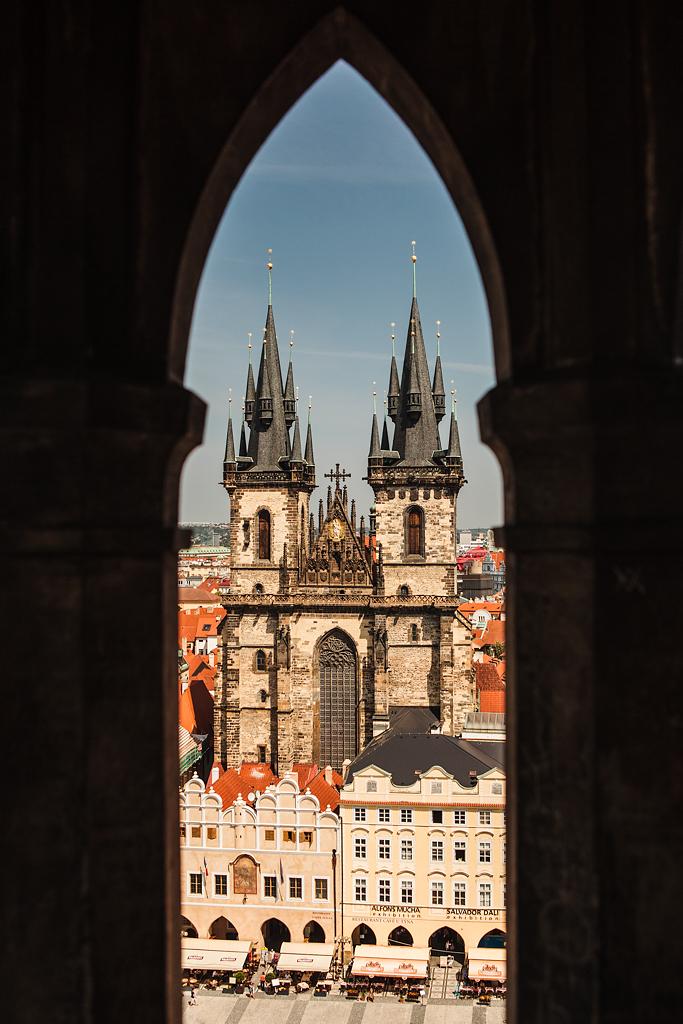 Iglesia de Týn desde la Torre del Reloj Astronómico - Praga - Sergio Arias Ramón