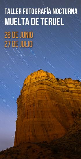 Taller de fotografía nocturna en la Muela de Teruel